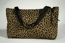 Giraffe Vegas Tote Make Up Hand Bag Handmade Fabric Purse Black Brown Gift New