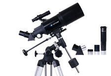 Profi Teleskop OPTICON StarRider 80F400EQ-A + Kellner okular + Barlow + Karte