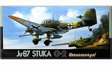 """Maqueta del bombardero alemán Junkers JU-87G-2 """"Kanonen Vogel"""" de FUJIMI a 1/72"""