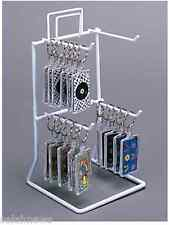 For Sale Counter Peg Hook Key Chain Display Rack - 2 Tier 4 Peg Hook (White)