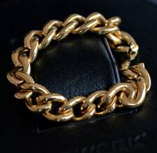 Heavy Isabelle FA 18k gold Curb Chain bracelet diamond italian desiger genuine