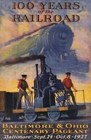 100 YEARS OF THE RAILROAD - ART POSTER 24x36 - VINTAGE HISTORY 36404