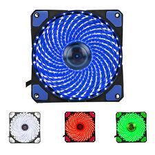 H1 120mm PC Computer 16dB Ultra Silent 33 LEDs Case Fan Heatsink Cooler Cooling