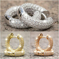 Fashion Hoop Earrings for Men/Women 925 Silver,Gold,Rose Gold Jewelry Gift