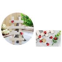 10x Hanging Decorative Ladybirds Garden Wall Ornament Home Outdoor  JX