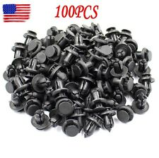 100 Pcs 10mm Bumper Hood Fender Splash Guard Retainer Push Clips Fastener Rivets