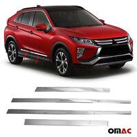 10x PC Carbon fiber Window Pillars Post Cover For Mitsubishi Eclipse Cross 2018