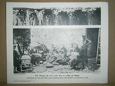 Gravure vieux métiers Elevage du vers à soie dans la vallée du Rhône