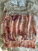 RIVER ISLAND CHELSEA GIRL WOMENS FLORAL/BOHO/FESTIVAL CROP TOP SIZE 12