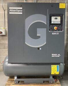 Atlas Copco GA11 Receiver Mounted Rotary Screw Compressor 11Kw, 15Hp, 55Cfm!