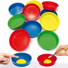 Baker Ross AG560 Paint Pots Pack of 10, Finger Art Bowls for Kids Crafts