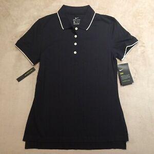 Nike Golf Dri-FIT Womens Polo Shirt Black XS Loose Fit