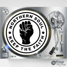 NORTHERN SOUL - KEEP THE FAITH - DJ SLIPMATS / SLIP MATS X 2 - TECHNICS  STANTON