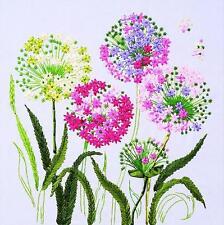Ribbon Embroidery Kit Wild Dandelion Taraxacum Needlework Craft Kit RE2013