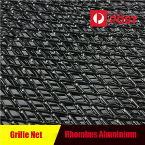 "1x 40""x13"" Black Aluminium Car Front Grille Net Vent Rhombus Style 12mmX6mm Mesh"