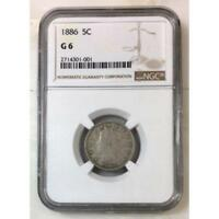 1886 Liberty Nickel NGC G6 *Rev Tye's* #1001213
