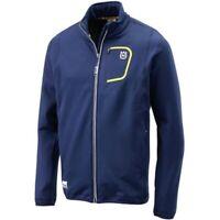 Husqvarna Motorcycles Basic Logo Polyester Zip Sweat Jacket Blue New