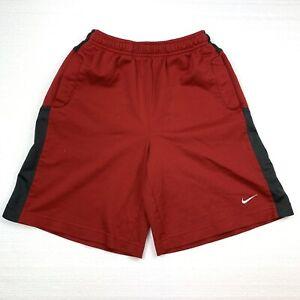 nike youth boys size medium athletic shorts Red