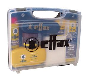 Effax LEATHER CARE CASE Including Tack Saddle Shoe Polish & Sponge Cleaning Kit
