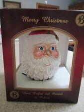 "Large 6"" Firma Bilinski Hand Made Glass Santa Claus Ornament Christmas Holidays"