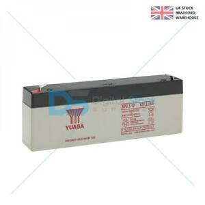 NP2.1 12 volt 2.1ah YUASA RECHARGEABLE ALARM/ SECURITY BATTERY