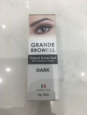 Grande BrowFill Tinted Brow Gel with Peptides & Fibers - DARK .14oz