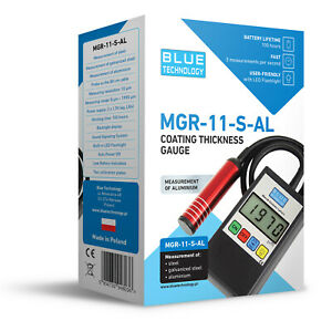 Paint Coating Thickness Gauge Meter Tester MGR11-S-AL FE/AL Producer Made in EU