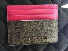 Michael Kors Jet Set Brown/Pink card case MSRP $68