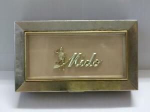 Vintage Mido Watch Ocean Star Metal Empty Box Defective Need Repair parts BX019