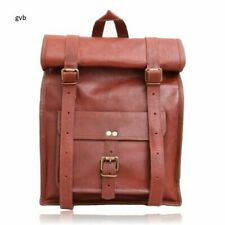 Vintage Laptop Backpack Rucksack Messenger Satchel Bag Genuine VIP Leather