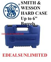 """SMITH & WESSON CASE BOX HARD  S&W Gun Box Up to 6"""" Barrels 1911 FREE SHIPPING"""