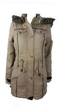 Womans Winter Coat Brave Soul Parker Style Allure UK Size 10 Christmas