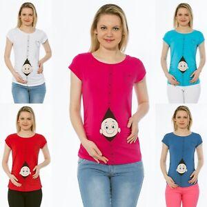 Umstandsmode T-Shirt Motiv Schwangerschaft Geschenk Mit Süßen Aufdruck
