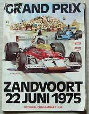 DUTCH GRAND PRIX FORMULA ONE 1975 F1 ZANDVOORT Official Programme