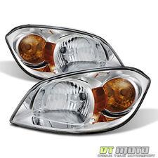 2005-2010 Cobalt 07-10 Pontiac G5 05-06 Pursuit Crystal Headlights HeadLamp Pair