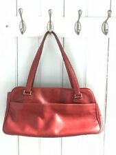 Vintage KATE SPADE Red Leather Handbag Bag Purse MADE IN ITALY Rare