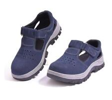 Womens Antislip Anti Occupational Steel Toe Breathable Safety Shoes Summer Size