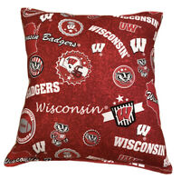 University Of Wisconsin Pillow Badgers 2021 Design HANDMADE In USA NCAA Pillow