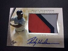 2014 LEAF Q Rickey Henderson Game Used Sick Patch AUTO Autograph Signed SP HOF
