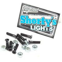 "Shorty's Skateboard Hardware 7/8"" Phillips Black Shortys Truck Mounting Bolts"