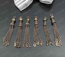 1pc Retro Bronze Tassel pendant Bead Charms Accessories wholesale P1728