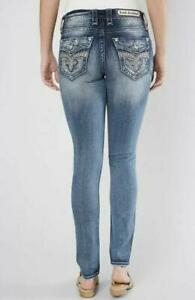 Rock Revival Womens Kerra Easy Skinny Stretch Bling Crystal Jeans Size 28 NEW