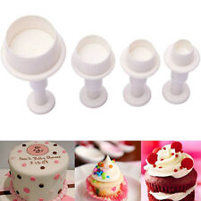 4Pcs Mini Round Cookie Cake Cutter Mold Biscuit Fondant Sugar Craft Decor Mould