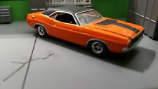 1970 DODGE CHALLENGER 1/64 ADULT COLLECTIBLE MUSCLE CAR RUBBER TIRES ORANGE