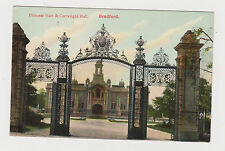 PRINCESS GATE & CARTWRIGHT HALL,BRADFORD. OLD PRINTED POSTCARD.SEE PICTURE