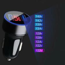 3.1A Dual USB Car Cigarette Charger Power Lighter Digital Voltmeter 12V LED S3F3