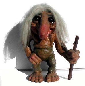 Vintage Large Cutest and Ugliest Nyform Troll Figure
