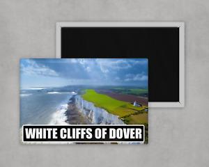 White Cliffs Of Dover -Large Novelty Fridge Magnet-8cm x 5cm Tourism Travel Gift