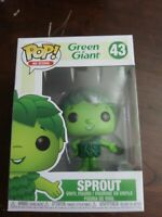Funko Pop Sprout #43 Green Giant Ad Icons Classic Collectible Vinyl Figure New