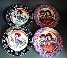 RED FLAMBOYANCE by Julie Ueland - DESSERT PLATES - SET OF 4